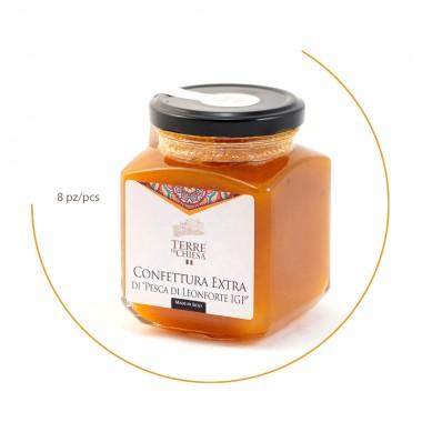 Pack  Extra jam of Peaches PGI from Leonforte